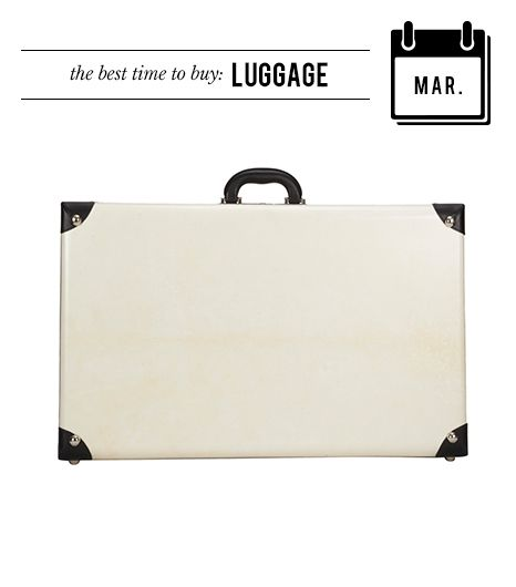 @Who What Wear - March: Luggage  Come Spring Break, you're likely to find suitcases on sale, making it a great time to snag a new carry-on.  T. Anthony Medium Structured Suitcase ($2400)