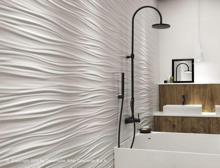 Carrelage mural en c ramique mat uni 3dwall design for Carrelage ceramique