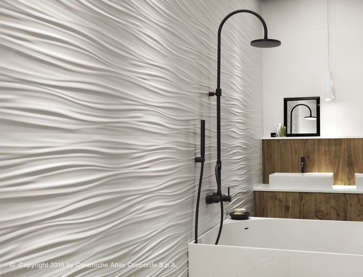 carrelage mural en c 233 ramique mat uni 3dwall design ribbon atlas concorde tile