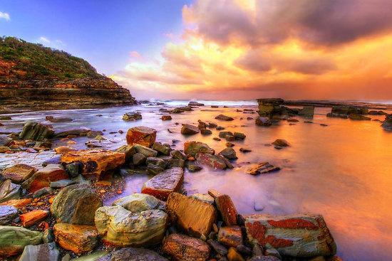 Embrace the Sun.  Terrigal beach, Australia.