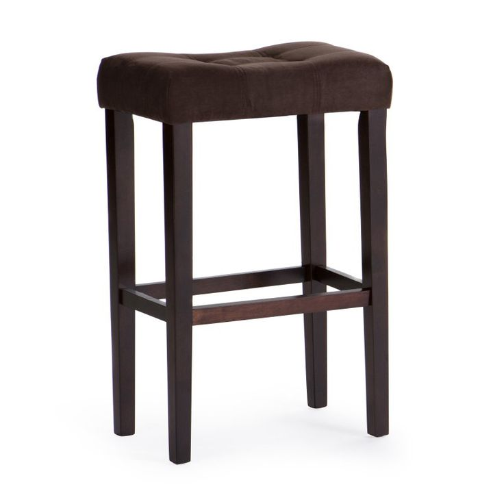 Palazzo 32 Inch Extra Tall Saddle Stool Chocolate - D1482.0078-MP