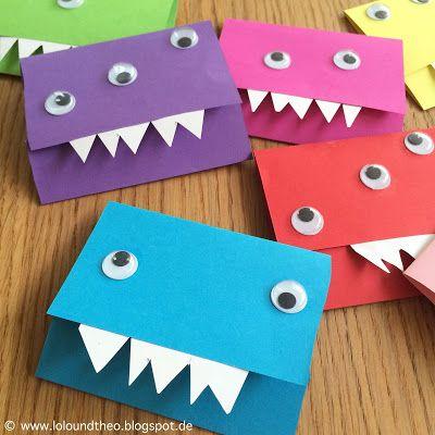 Monstereinladungen für den Kindergeburtstag / www.loloundtheo.blogspot.de