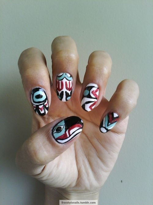 25 Best Images About Native Inspired Nail Art On Pinterest