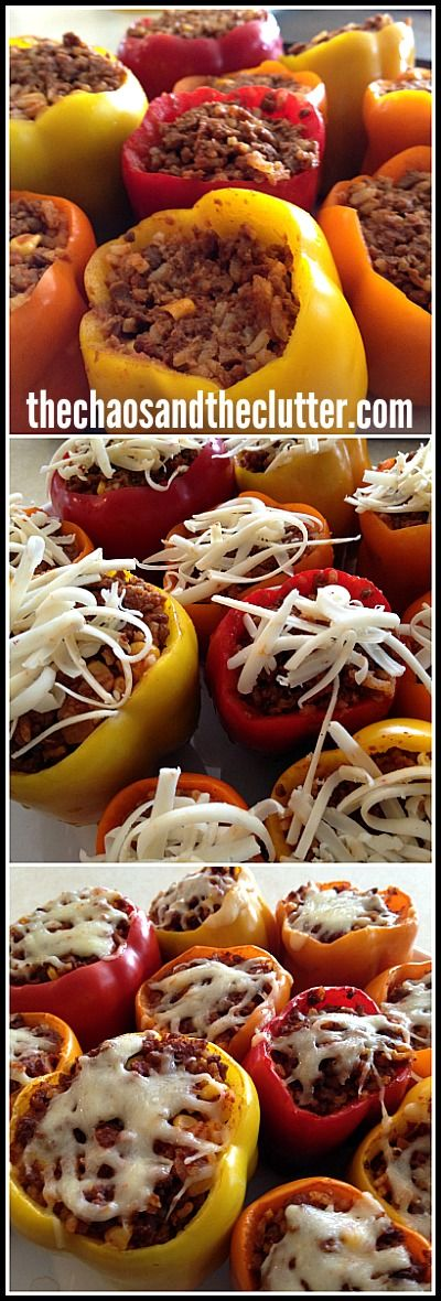 Gluten Free Stuffed Peppers - The Chaos and the Clutter