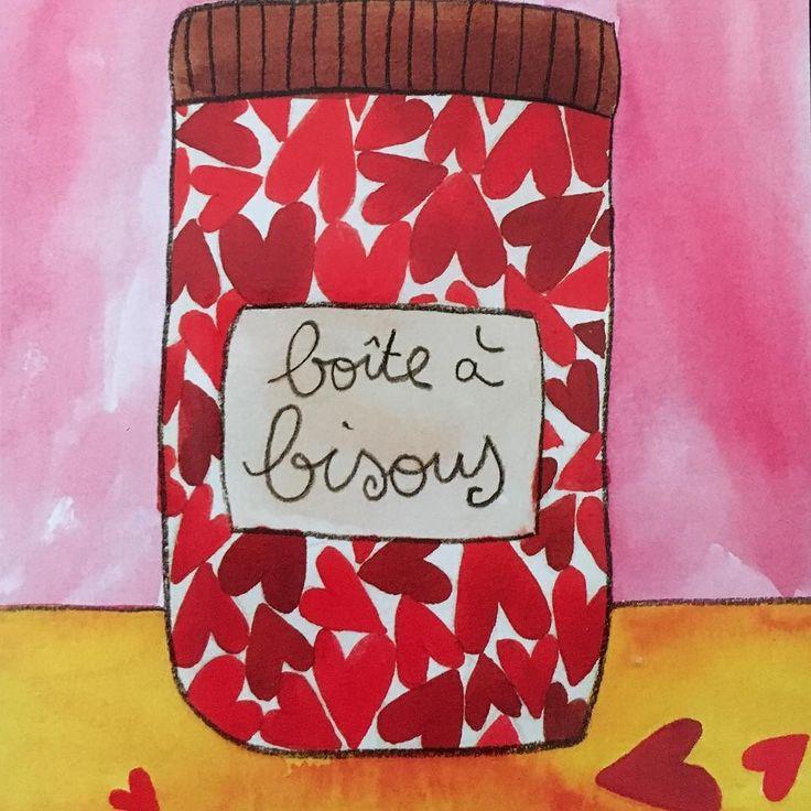 #rose #avrilcafeine  Une carte de latelierdelalibellule.com  Encore un doux dimanche  #bisous #card #drawing #carte #déco #sunday#happysunday #bondimanche #xoxo
