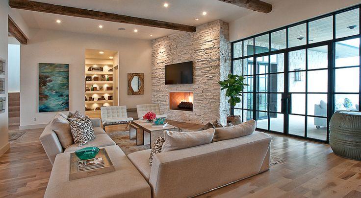 Landelijke woningen google zoeken livingroom pinterest modern interieur and search - Interieur modern huis ...