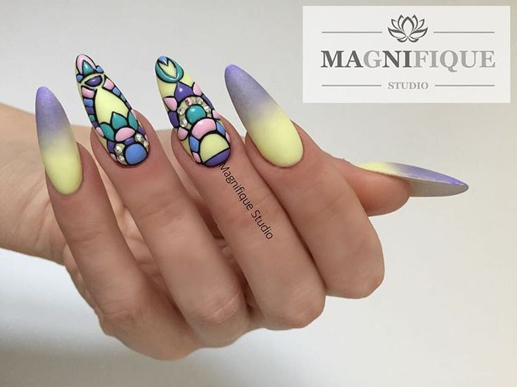 Paznokcie na Lato ombre nails Struktural naildesign wzorki strukturowe Sieh dir dieses Instagram-Foto von @magnifique_studio_nails an • Gefällt 10 Mal