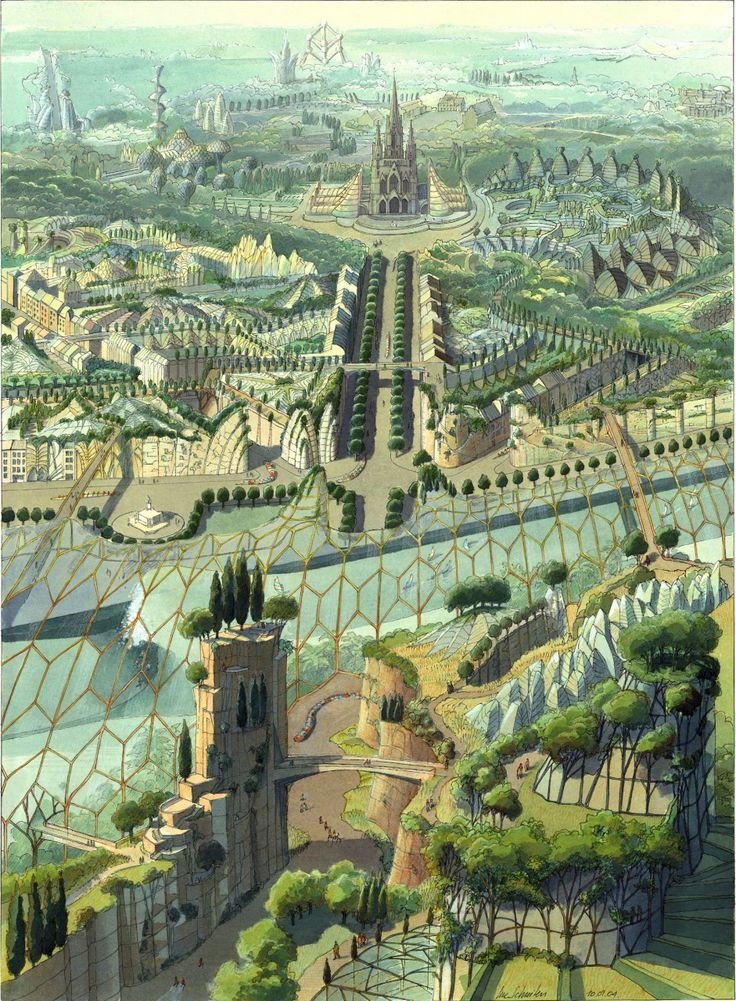 Evolution Laeken City :: Luc Schuiten