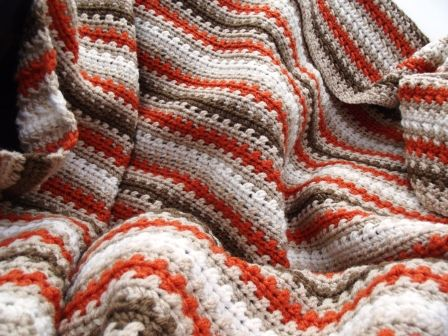 Fall Striped Afghan | Free Crochet Pattern