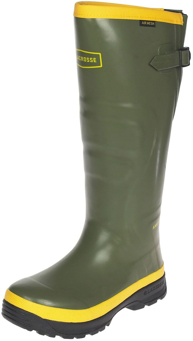 Mens Spog Rubber Work Boots Olive - Item # 29089