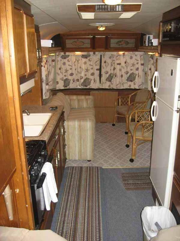 Coach camper shell interior design google search for Truck camper interior ideas