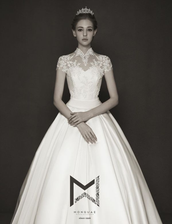 The Modesty Trend! 20 Timeless Wedding Dresses with High Necklines!