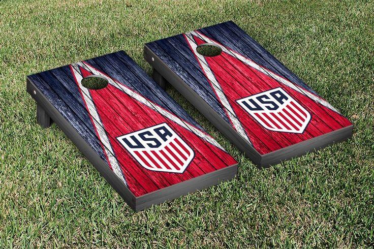 US Soccer Regulation Cornhole Game Set Weathered Triangle Version