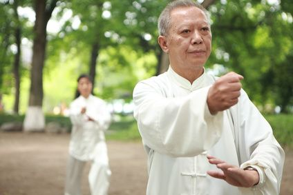 """Taichi is often referred to as """"meditation in motion"""" requiring concentration…"""