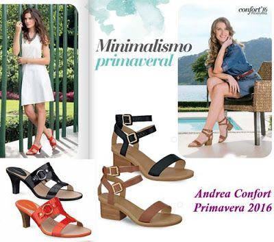 Folleto de Zapatos 2016 Andrea Confort de primavera. Calzado confort, calzado andrea 2016, zapatos juveniles, zapatos de oficina, zapatos de mujer.