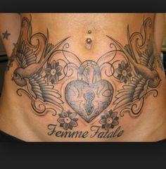 Image result for pictures of tattoos to cover stretch for Stomach tattoos for stretch marks