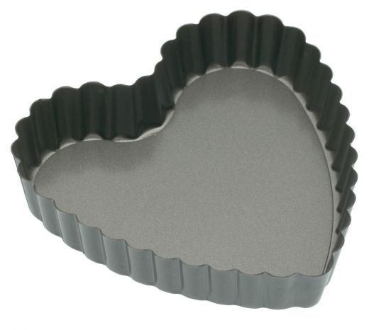 Kitchen Craft Mini Fluted Heart Shape Pan, 10cm