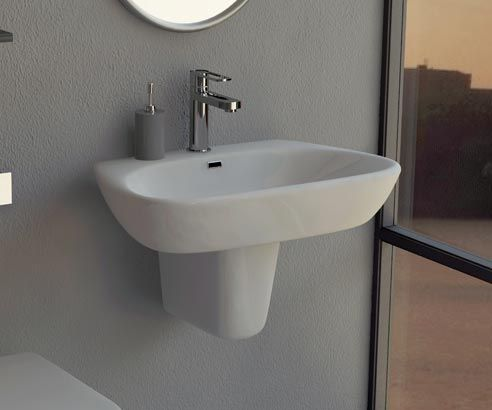 Rinaldi Signature Wall Hung Basin - V20151091NA scene square medium