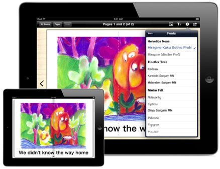 Book Creator is an easy to use app for creating books, stories and student work with ability to use pictures, video, audio and draw/write within the app.   Great for teachers and students use!