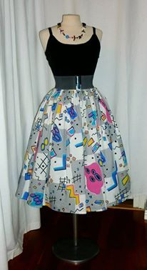 Repro 50s style skirt of 80s cotton.