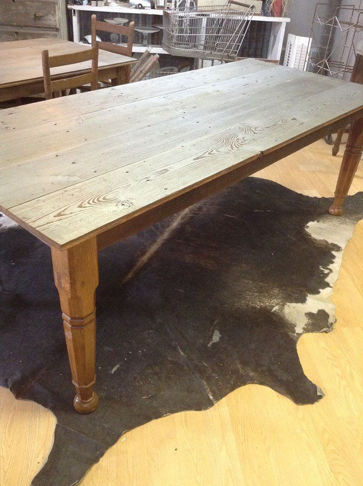 Farm Table! Custom made by Dumpster Diva~ Follow me on Face Book  https://www.facebook.com/pages/Dumpster-Diva/265520813490127