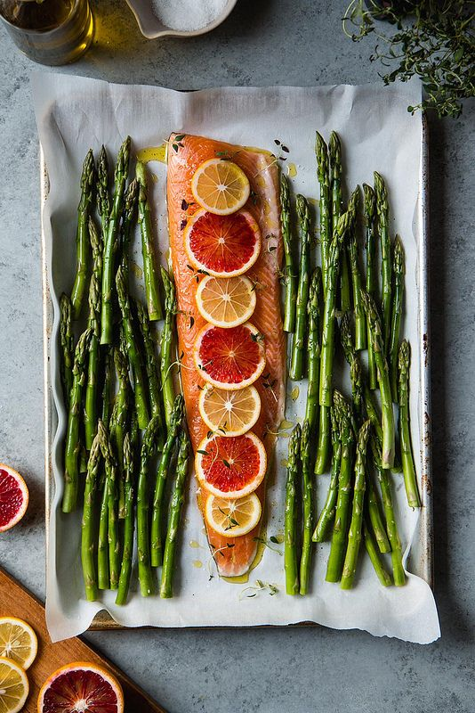 This is such a beautiful dish and it really crosses the divide between winter and spring with the beautiful citrus and gorgeous asparagus.