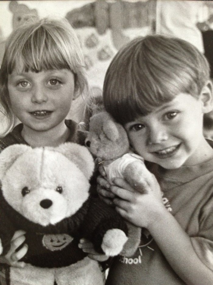 This is one of the cutest pictures ever. Harry Styles and his sister Gemma