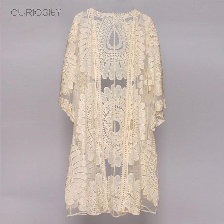 Boho Chic Sunflower Kimono Cover up Summer Cardigan