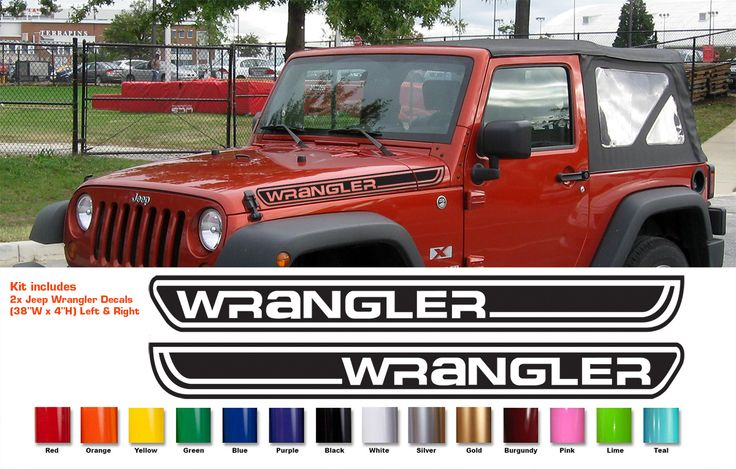 Custom hood decal for wrangler rubicon sahara jk cj tj for Custom jeep lettering