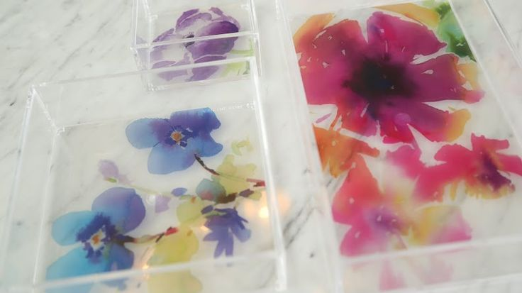Beautiful way to add colour to your desk organizers!