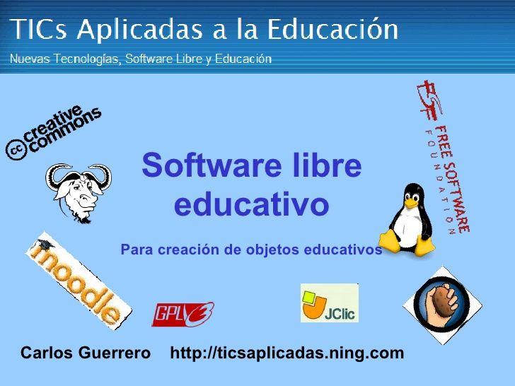 Software Libre Educativo
