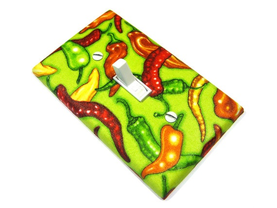 Green Chili Peppers Light Switch Cover Southwestern Kitchen Decor Hot Chilies Last One 127