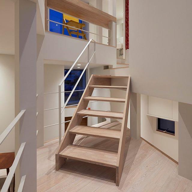 千曲の家 階段 階段のある家 階段デザイン Stairs Stairsdesign