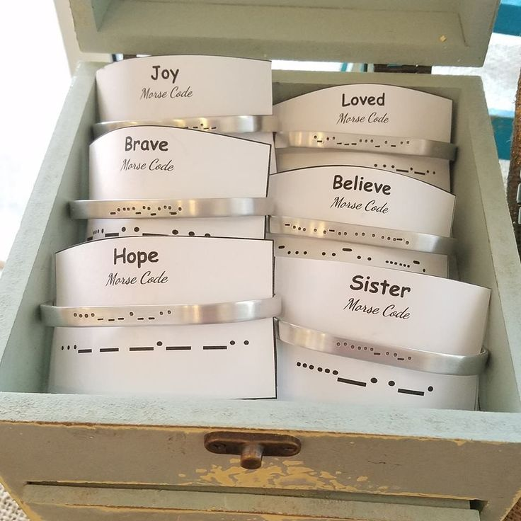 Morse Code Secret Message Bangle Bracelets
