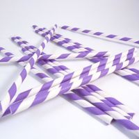 Bella Cupcake Couture Purple & White Striped Paper Party Straws $5.99 includes 24 www.bellacupcakecouture.com