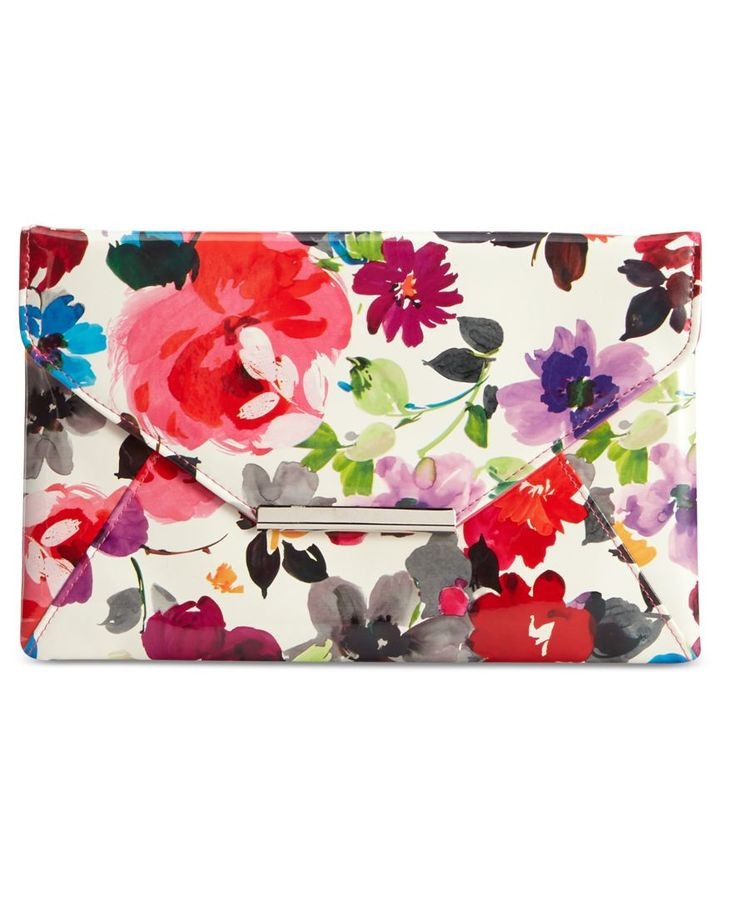 Style & Co. Lily Pansy Floral Clutch, Only at Macy's