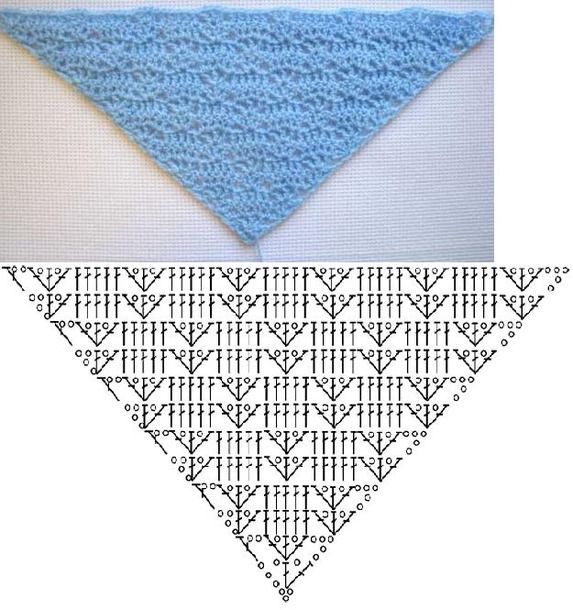 Crochet Shawl Patterns Diagram : 1000+ ideas about Crochet Shawl Diagram on Pinterest ...