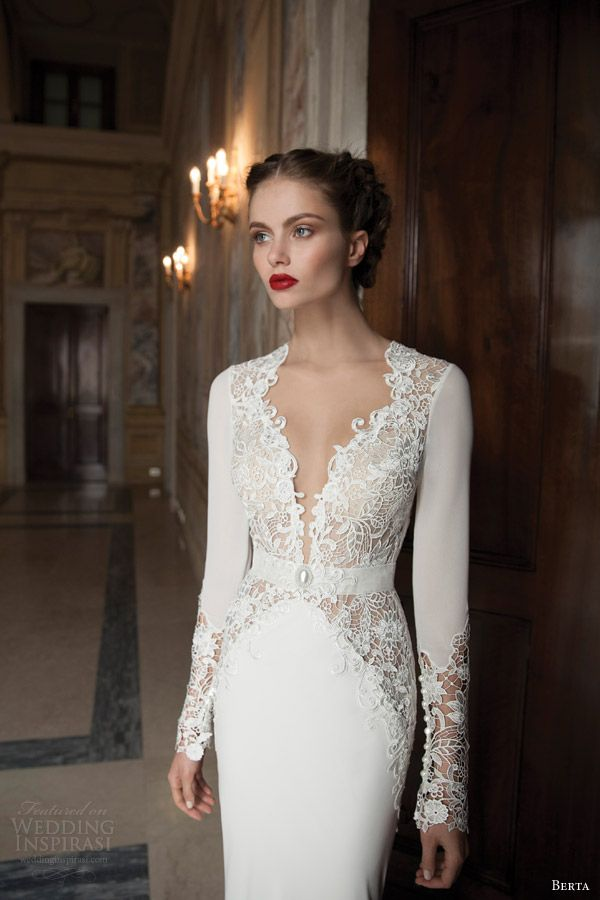 berta wedding dresses 2014 long sleeve gown