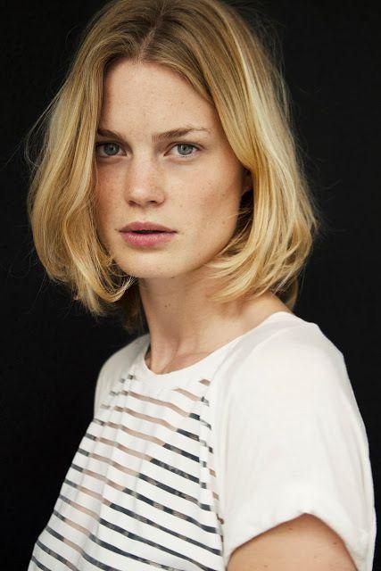 blond court 三 coupe coiffure cheveux carré haar frisur short haircut portrait