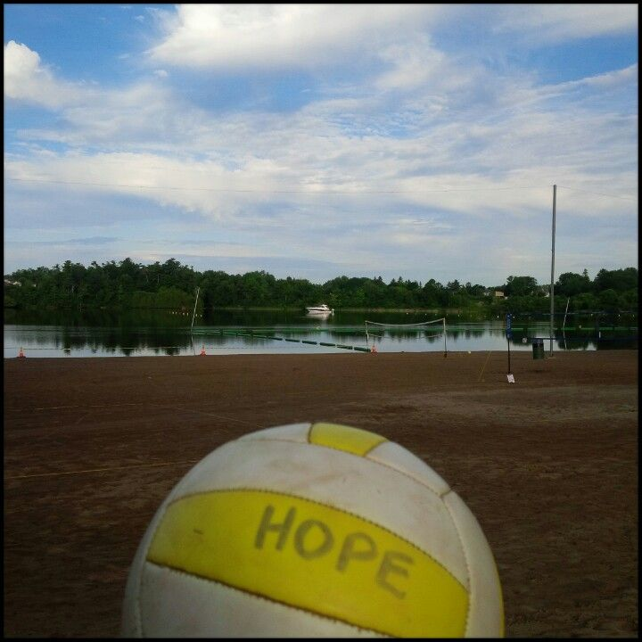 The calm before the players storm! I'm ready for it!  #HOPEBeachVolleyball #MooneysBay #Spike #Summertime #Fun @newhot899