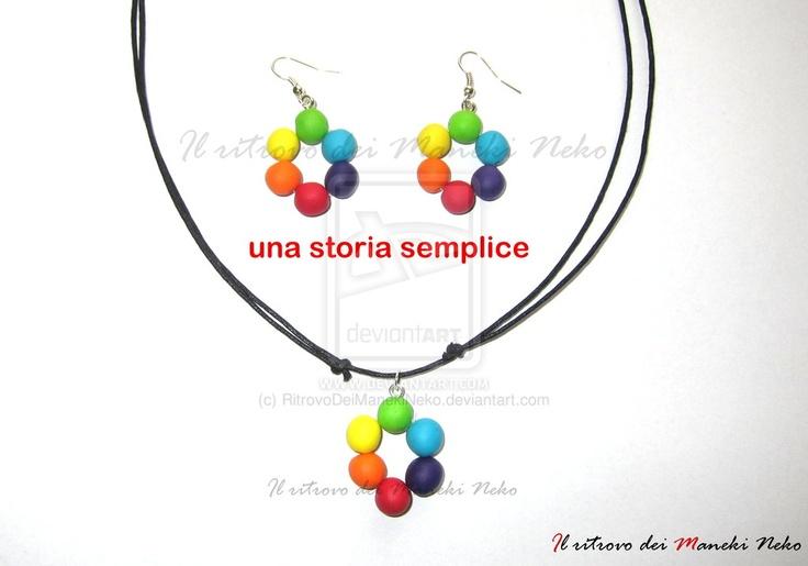 """Parure realizzata completamente a mano in vista di """"una storia semplice tour"""" ...Anche le perle sono realizzate in pasta polimerica...Spero che vi piaccia.. :) @negramaro #unastoriasemplice #negramaro #handmade #fimo"""