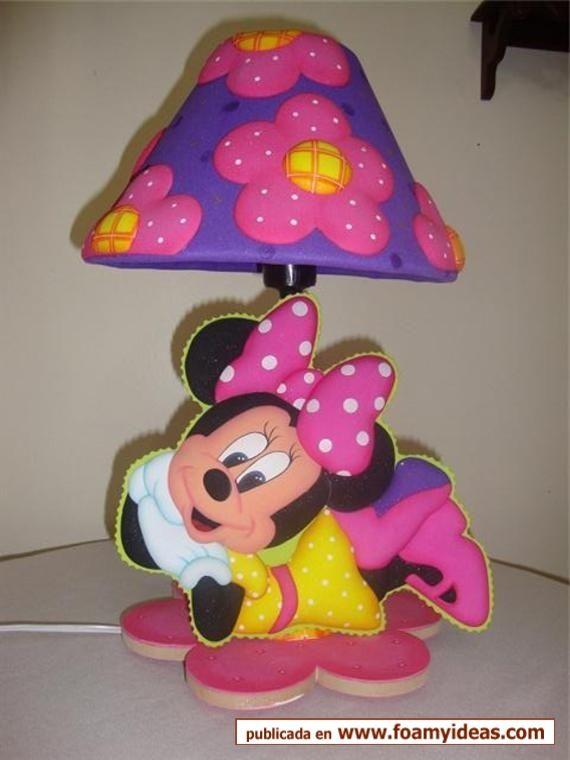 Lamparas de foami de princesas imagui manualidades con - Manualidades minnie mouse ...