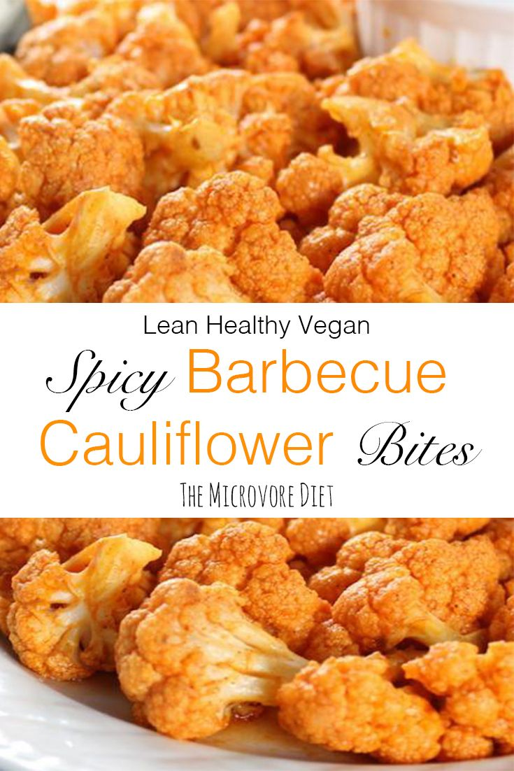 These barbecue cauliflower wings make the perfect chicken wing replacement! These plant-based wings are crispy, spicy, nutrient-rich, and great for vegan health and weight loss!  Click the image for ingredients and instructions!