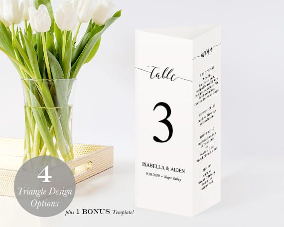 Printable Triangle Table Numbers Three-sided Table Numbers