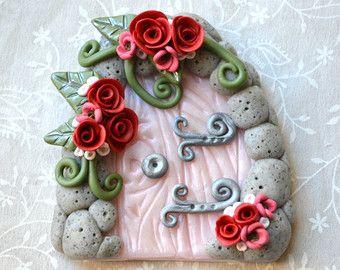 Toothfairy Tür Garten Tür Gnome-Tür Fairy Door von CraftyClayStudio