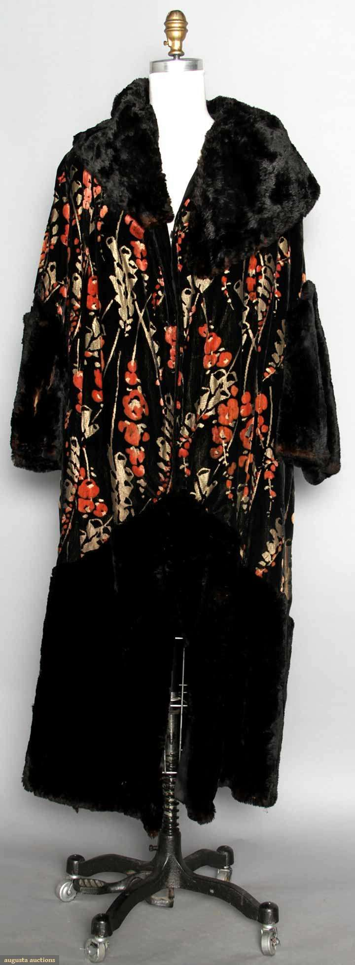 Printed & Lame Velvet Opera Coat, 1920s, Augusta Auctions, MAY 13th & 14th, 2014, Lot 151