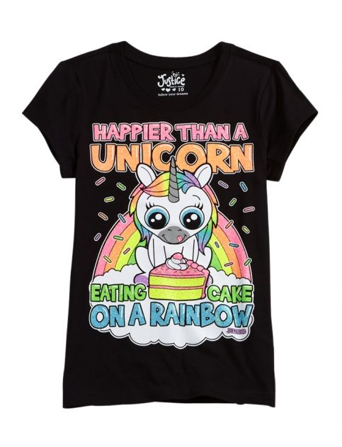I know this is from justice & all but come on its a unicorn shirt !!
