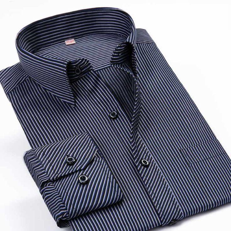 Barato Camisa dos homens Camisas de Vestido Ocasional Camisa Xadrez Roupas Desgaste Do Trabalho dos homens da Longo luva Camisa Masculina Plus Size Novo 2016 6xl, Compro Qualidade Camisas casuais diretamente de fornecedores da China: