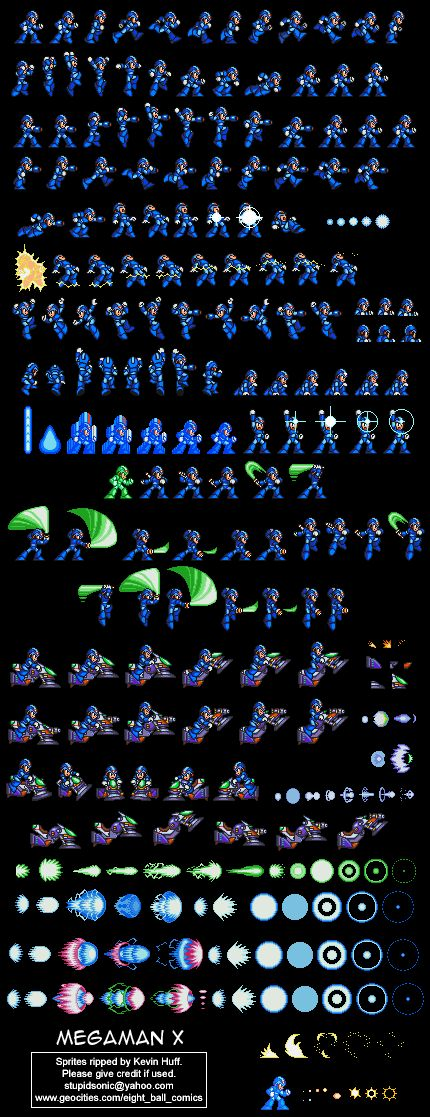 Mega Man X #spritesheet