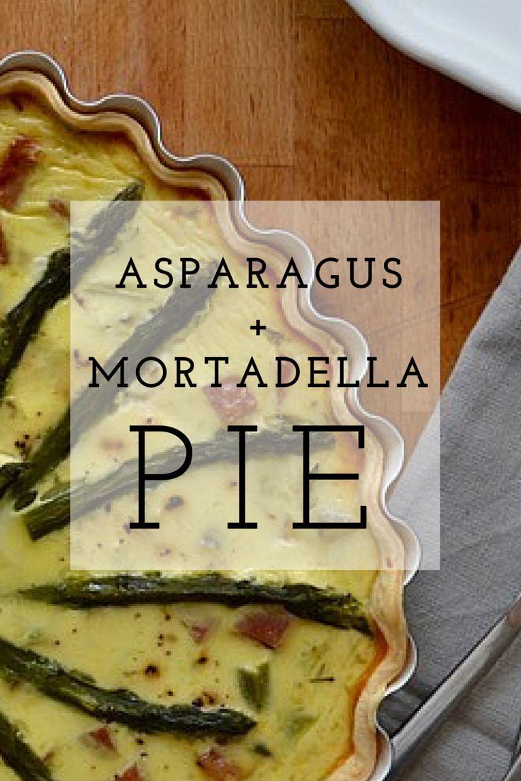 Asparagus & Mortadella Pie - Italian version of quiche lorraine!